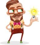 Vintage Fashion Style Man Cartoon Vector Character AKA Jacob - Idea 1
