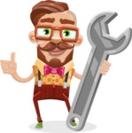 Vintage Fashion Style Man Cartoon Vector Character AKA Jacob - Repair