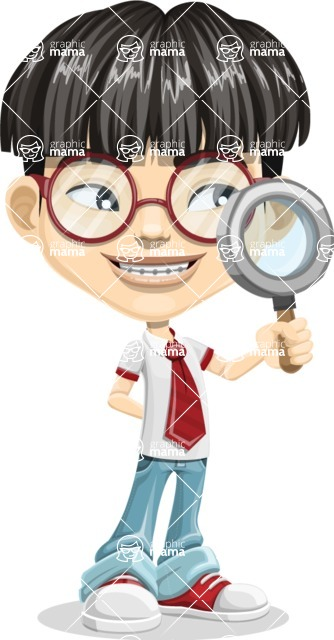 Asian School Boy Cartoon Vector Character AKA Jeng Li - Search