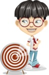 Asian School Boy Cartoon Vector Character AKA Jeng Li - Target