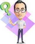 Cartoon Chinese Man Vector Character - Shape 11