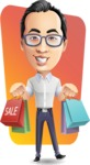 Cartoon Chinese Man Vector Character - Shape 12