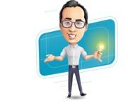 Cartoon Chinese Man Vector Character - Shape10