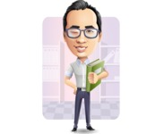 Cartoon Chinese Man Vector Character - Shape6