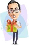 Cartoon Chinese Man Vector Character - Shape8