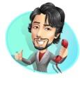 Japanese Businessman Cartoon Vector Character - Shape4