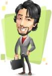 Japanese Businessman Cartoon Vector Character - Shape5