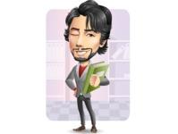 Japanese Businessman Cartoon Vector Character - Shape6