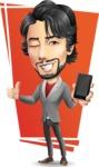 Japanese Businessman Cartoon Vector Character - Shape7