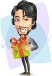 Japanese Businessman Cartoon Vector Character - Shape8