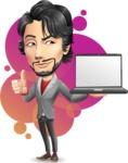 Japanese Businessman Cartoon Vector Character - Shape9