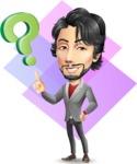 Japanese Businessman Cartoon Vector Character - Shape 11