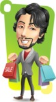 Japanese Businessman Cartoon Vector Character - Shape 12