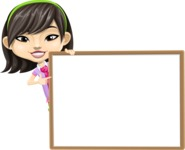 Asian School Girl Cartoon Vector Character AKA Ah Cy - Presentation 5