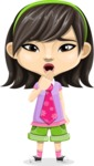 Asian School Girl Cartoon Vector Character AKA Ah Cy - Oops