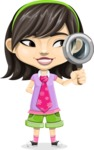 Asian School Girl Cartoon Vector Character AKA Ah Cy - Search