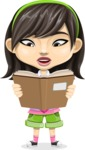 Asian School Girl Cartoon Vector Character AKA Ah Cy - Book 1