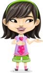Asian School Girl Cartoon Vector Character AKA Ah Cy - Showcase 2