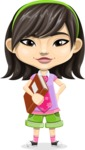 Asian School Girl Cartoon Vector Character AKA Ah Cy - Book 3