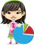 Asian School Girl Cartoon Vector Character AKA Ah Cy - Chart