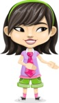 Asian School Girl Cartoon Vector Character AKA Ah Cy - Show