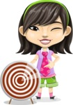Asian School Girl Cartoon Vector Character AKA Ah Cy - Target