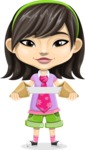 Asian School Girl Cartoon Vector Character AKA Ah Cy - Fortune cookie 2