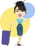 Asian Woman Cartoon Vector Character AKA Ann Li - Shape 8