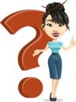 Asian Woman Cartoon Vector Character AKA Ann Li - Question mark