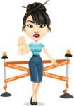 Asian Woman Cartoon Vector Character AKA Ann Li - Under Construction 2