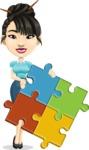 Asian Woman Cartoon Vector Character AKA Ann Li - Puzzle