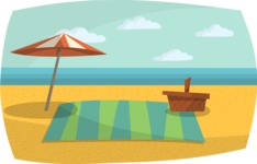 Beach Picnic Setup