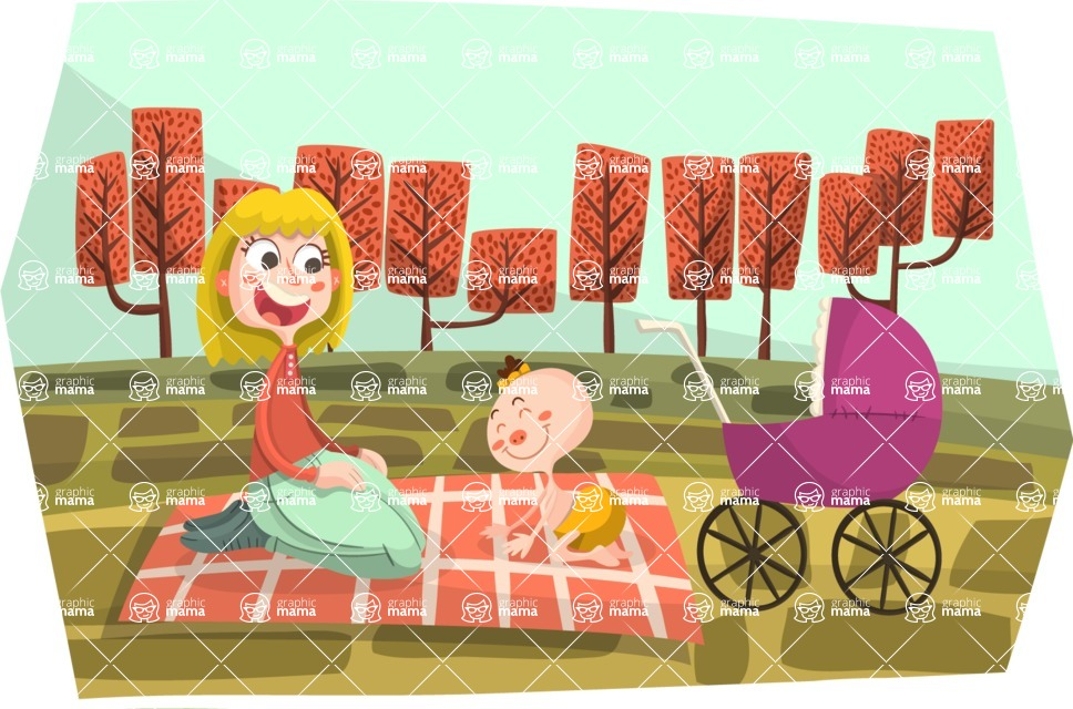 Baby Vectors - Mega Bundle - Autumn Picnic with Baby