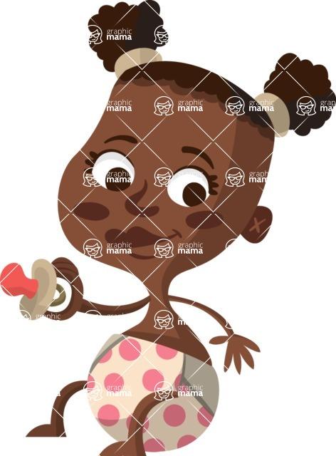 Baby Vectors - Mega Bundle - African American Baby Girl