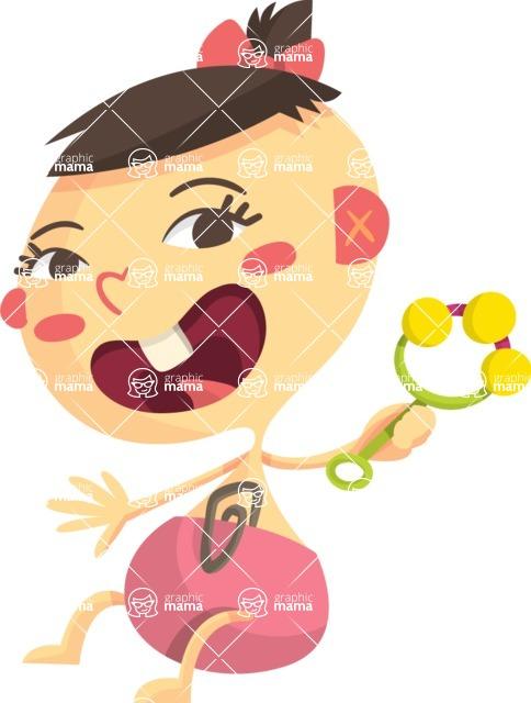 Baby Vectors - Mega Bundle - Asian Baby Girl