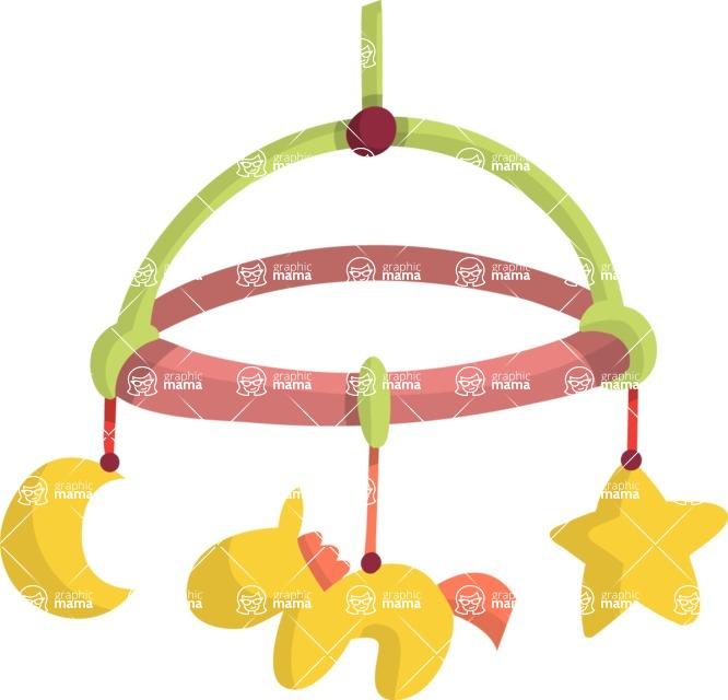 Baby Vectors - Mega Bundle - Baby Crib Hanging Toy