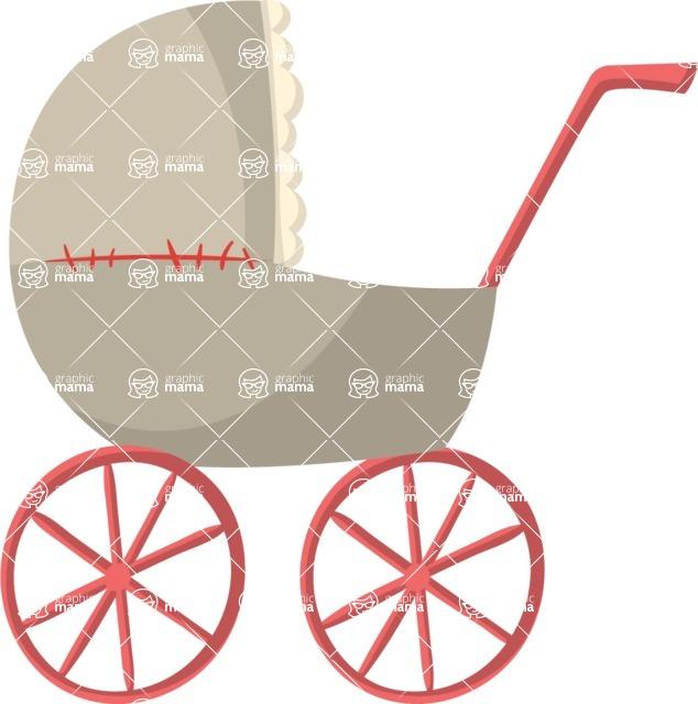 Baby Vectors - Mega Bundle - Baby Stroller