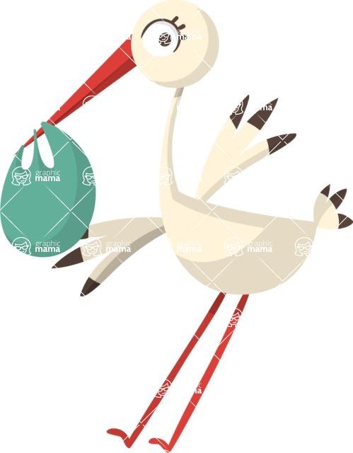 Baby Vectors - Mega Bundle - Stork Bringing Baby