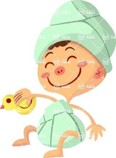 Baby Vectors - Mega Bundle - Baby with a Bath Duck