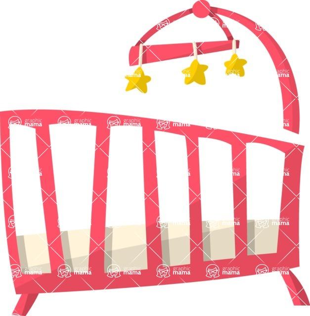 Baby Vectors - Mega Bundle - Baby Crib 3