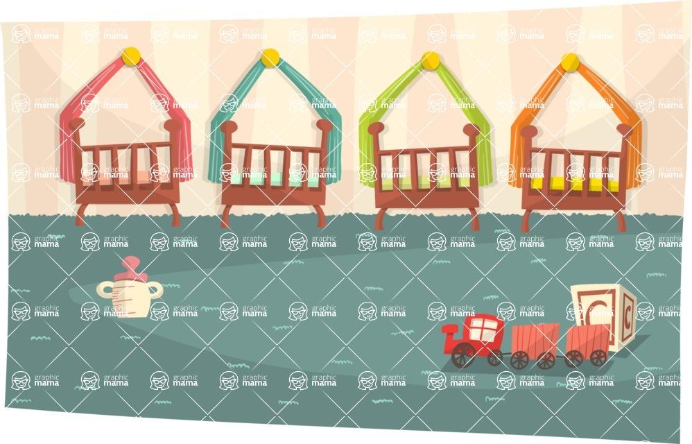 Baby Vectors - Mega Bundle - Toddler Daycare Room