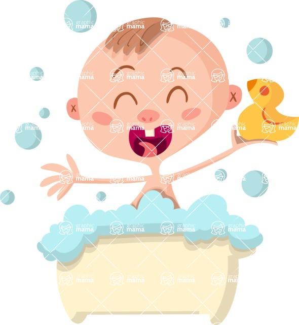 Baby Vectors - Mega Bundle - Baby in Bath