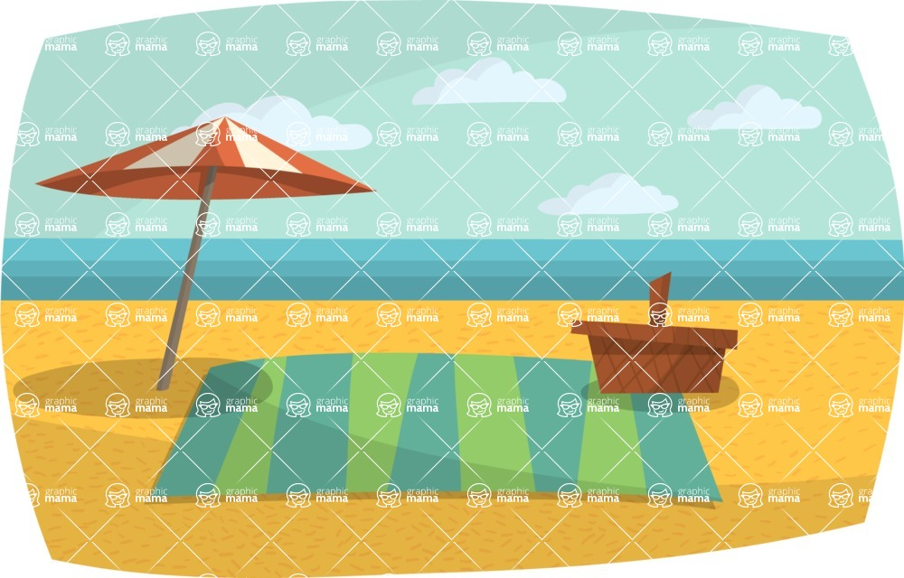 Baby Vectors - Mega Bundle - Beach Picnic Setup