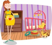 Baby Vectors - Mega Bundle - Pregnant Woman in Nursery