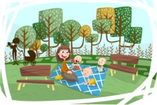 Baby Vectors - Mega Bundle - Picnic with Babies Outdoors