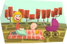Baby Vectors - Mega Bundle - Autumn Picnic with Baby