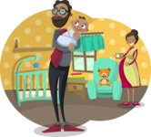Baby Vectors - Mega Bundle - Indian Family at Home