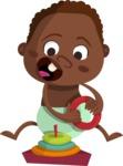 Baby Vectors - Mega Bundle - African American Baby Boy