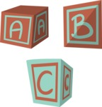 Baby Vectors - Mega Bundle - Playing Toy Cubes