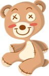 Babies: Peek-a-boo - Stuffed Bear Toy